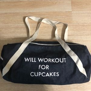 Will Workout for Cupcakes Gym bag